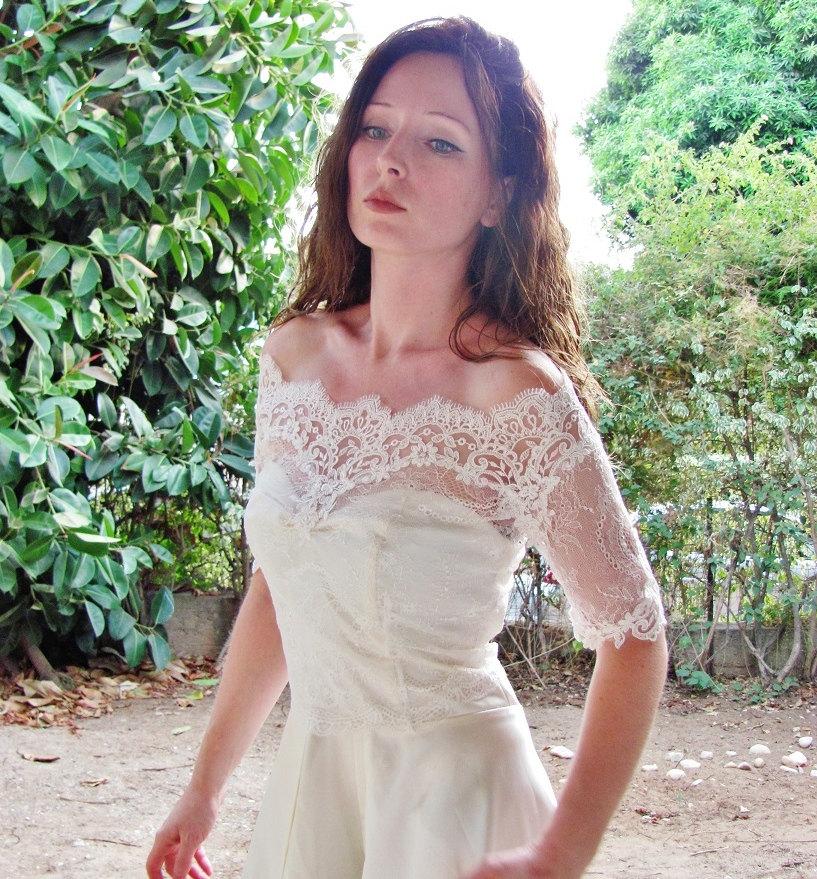 Jakke til brudekjole