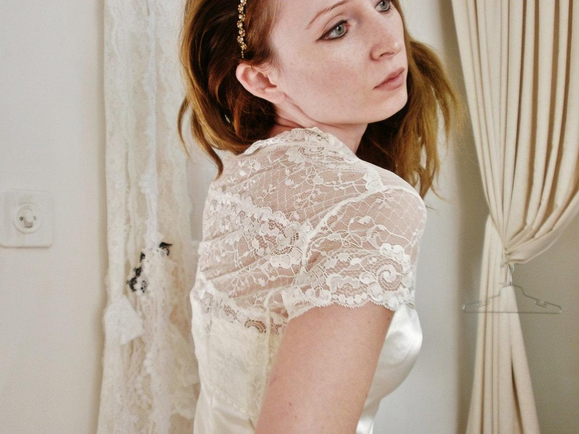 Bolero til brudekjole