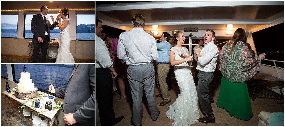 Bryllupsfeiring på båt