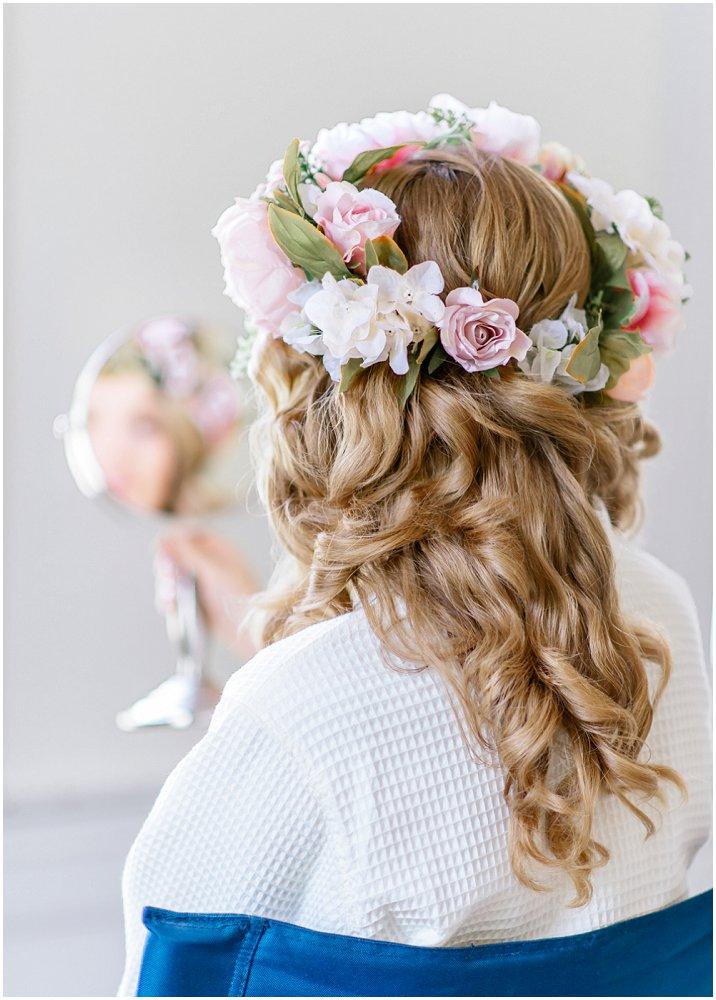 Blomsterkrans til bruden