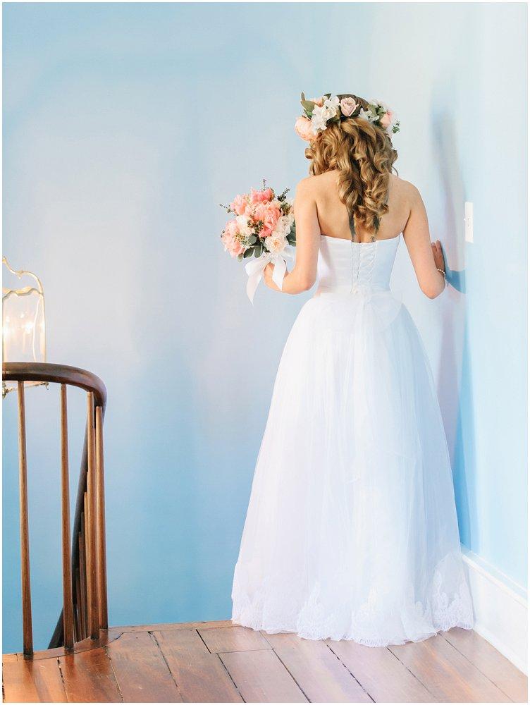 blomsterkrans til håret i bryllup