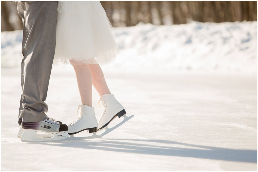Bryllup med snø og istema
