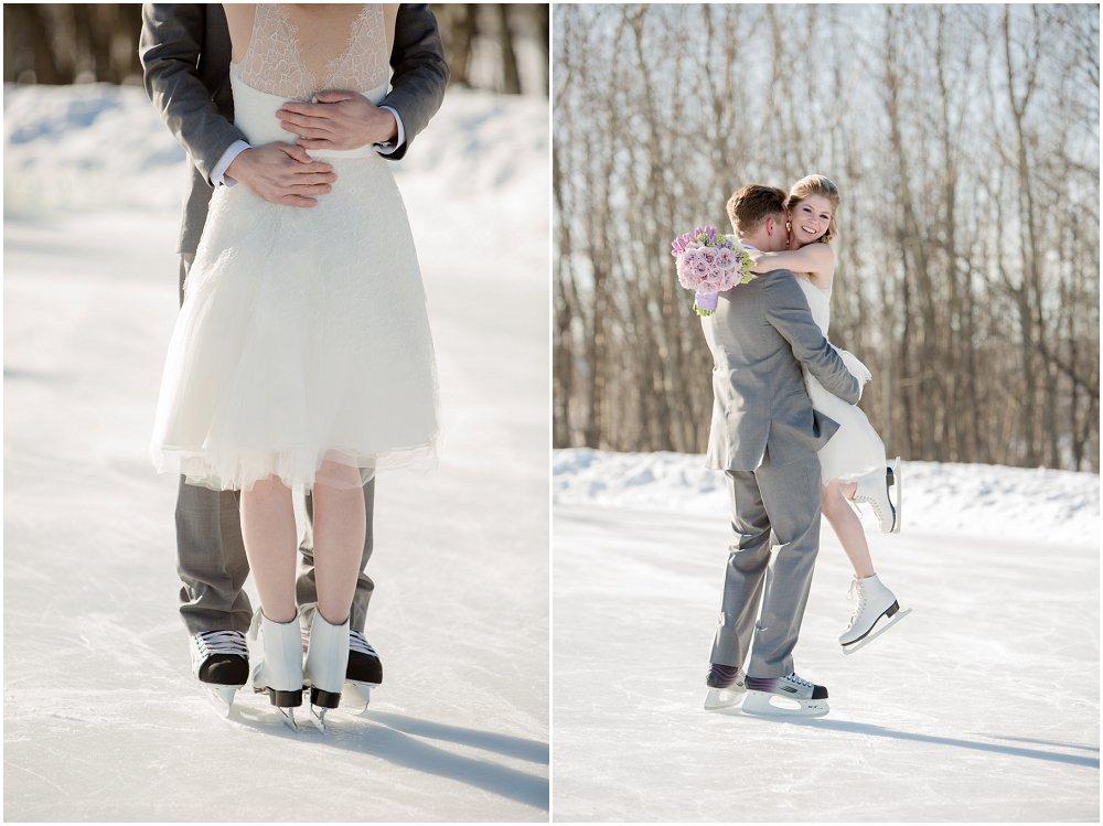 Bryllupsfotografering på isen