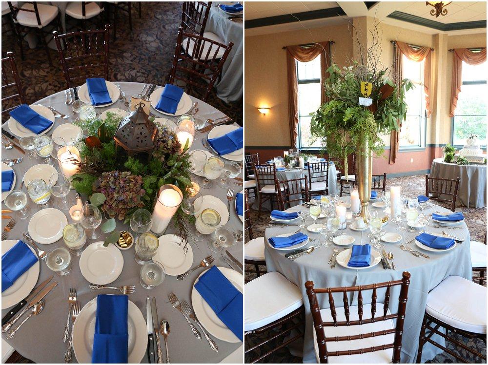 Bryllupsbordet i blått og hvitt