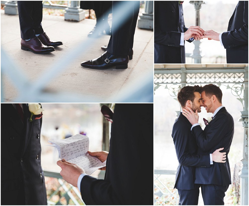 Same sex Central park wedding elopement and elopement packages by Le Image NY wedding photographers and videographers.